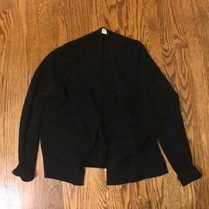 BRAND NEW never worn simple black knit cardigan